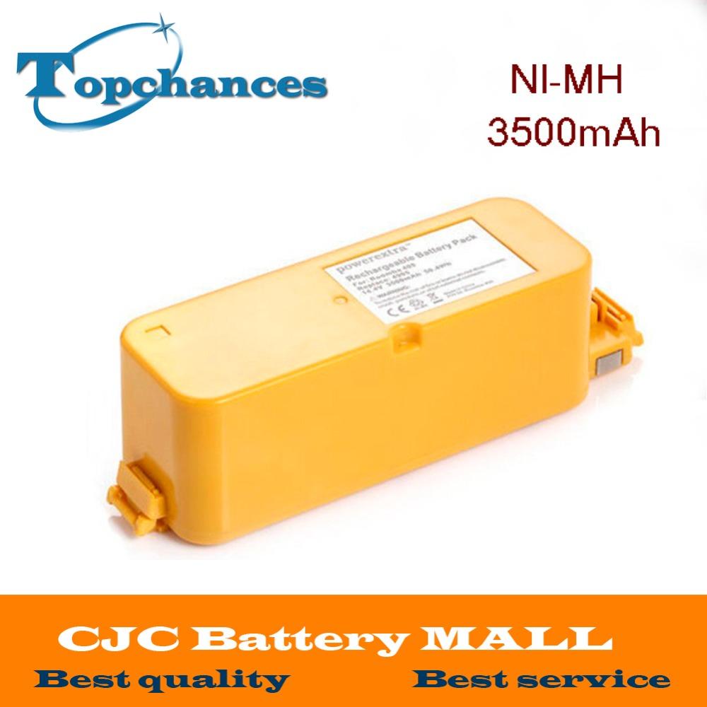 High Quality 3500mAh 3.5Ah NI-MH Vacuum Battery For iRobot Roomba 400 / 4000 / Create/ APC / Discovery / Dirt Dog Battery(China (Mainland))