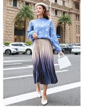 REALEFT automne femmes velours élégant plissé jupes longues dégradé taille haute Harajuku Tulle a-ligne mi-mollet jupes pour femme(China)