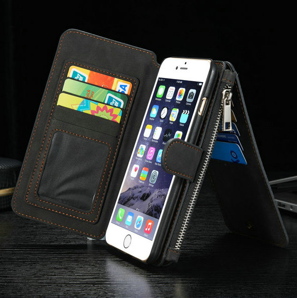 CaseMe Leather Case for Samsung Galaxy N5 S6 Edge Plus New Multi Functional Stand Wallet Cover For iphone 6 6S High Quality