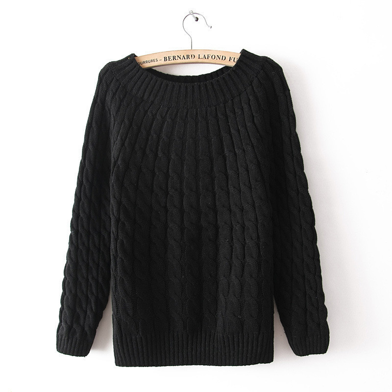 Hot Sale New Women Knit Sweaters Fashion Autumn & Winter Loose vintage twist Knitted Pullovers Outerwear 8 Colors(China (Mainland))