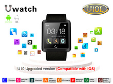 DHL Free U10L Bluetooth Smart Wrist Watch 1.54″Capacitive Touch Screen For IOS iPhone Android Phone, G-Sensor, 10Pcs/Lot