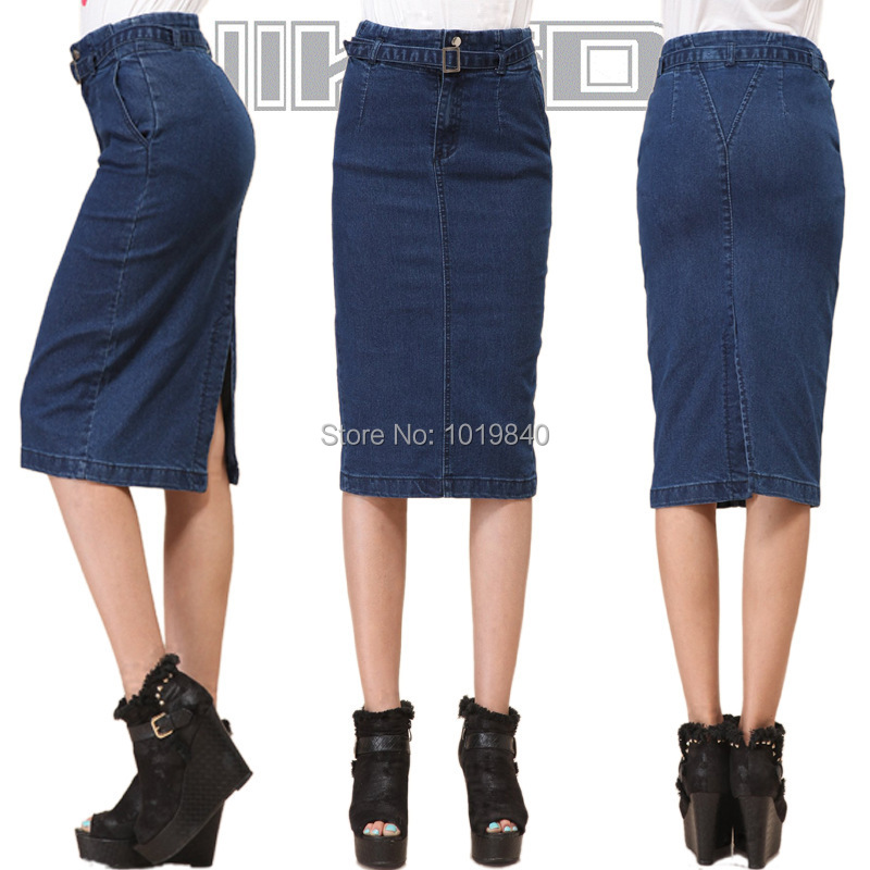 Women's jean pencil skirt – Modern skirts blog for you