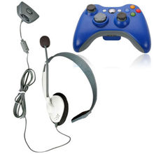 2pcs/lot original Stylish Headset with Microphone for XBox 360 Wireless Controller – Grey