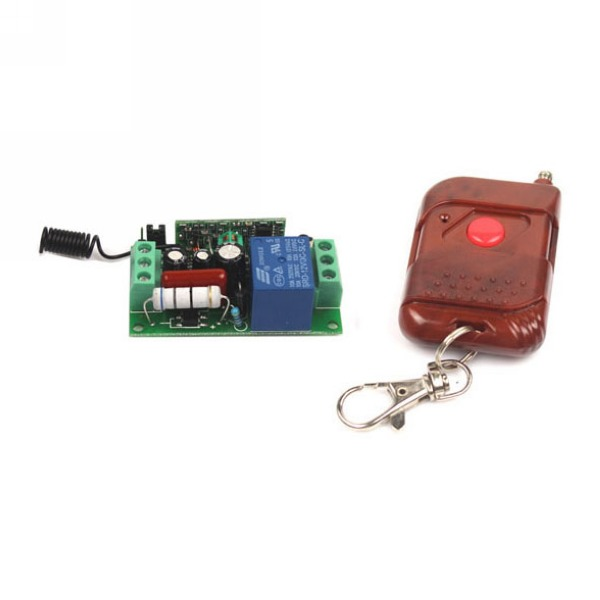 AC 110V 10A 1CH Relay Wireless RF Remote Control Switch Transmitter+Receiver(China (Mainland))