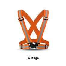 Светоотражающий жилет, пояс безопасности высокой видимости светоотражающими эластичной ленты синий и красный цвета флуоресцентный оранже...(China)