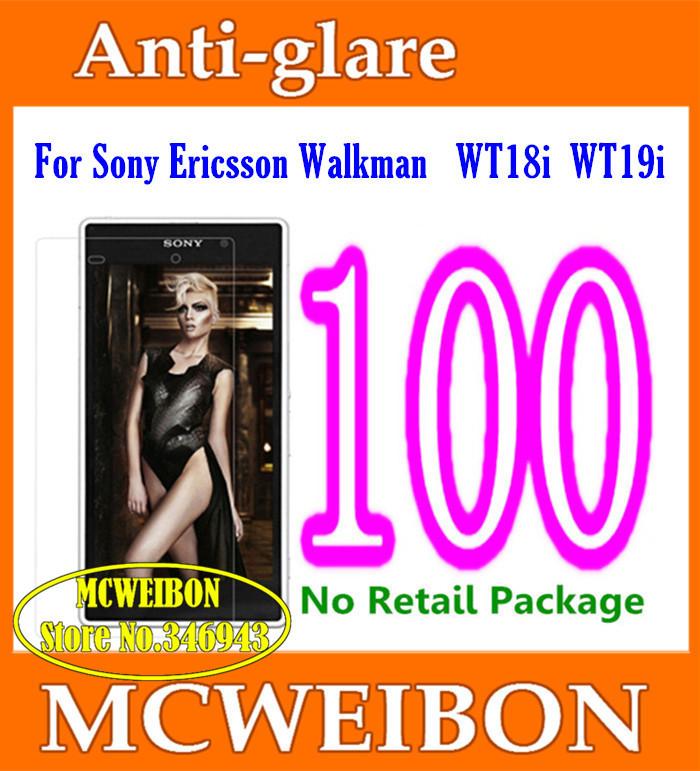 Matte Anti-Glare Anti Glare Screen Protector protective film lcd For Sony Ericsson Live With Walkman WT18i WT19i,No Pack+100pcs(China (Mainland))
