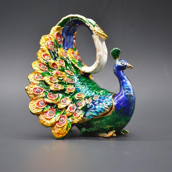 Buy Unique Delicate Home Decor Peacock Jewelry Case Design Trinket Box Magnet