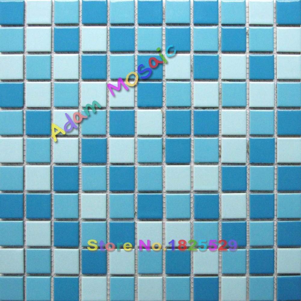 Popular blue tile flooring buy cheap blue tile flooring for Pool bathroom flooring