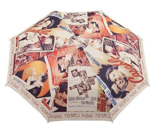 Classic Hollywood Movie Love Story Unique Design Sunny And Rainy Automatic Umbrella Anti-uv parasol Three Fold paraguas(China (Mainland))