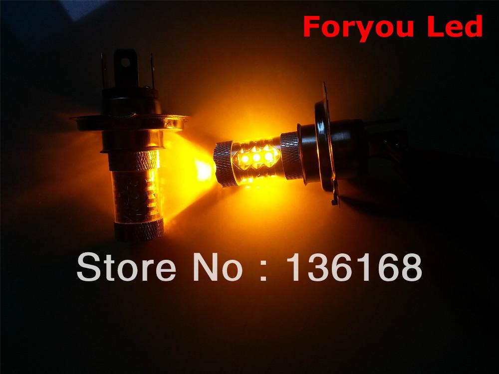CREE 9003/HB2/H4 LED BULB 80W ORANGE AMBER DUAL HI/LO BEAM HEAD(China (Mainland))