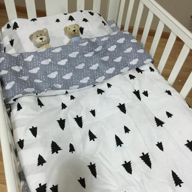 Бесплатная доставка новое поступление горячие Ins кроватки постельное белье 3 шт. ...