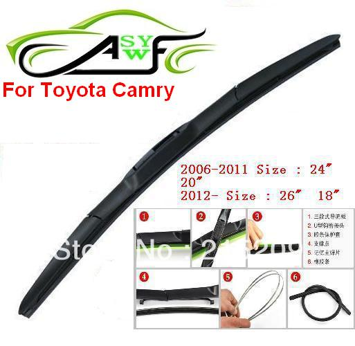 Auto Car Windshield Wiper Blade For Toyota Camry Car Wipers Blades Natural Rubber Wiper Car