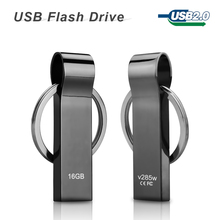 hot sale V285W Waterproof Metal USB Flash Drives pen drive 32GB 16GB 8GB Flash Drive with key ring free shipping(China (Mainland))