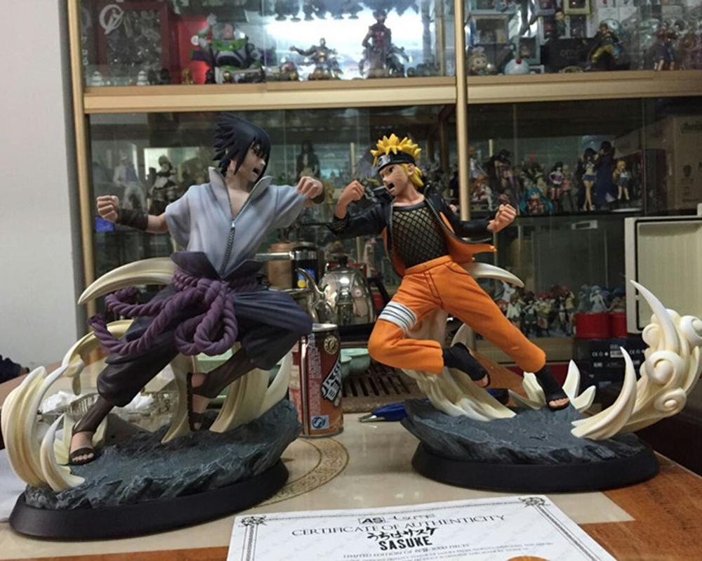 Фотография New Anime Naruto Ultimate Storm 4 Naruto VS Sasuke ultimate battle  Tsume Xtra Ver. PVC Figure Collectible Toys 28cm/11 Inch