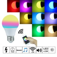 E27 Bluetooth Smart IOS Android App Control Lamp Wireless LED Light Bulb Unique Professional High Quality Lamp NG4S(China (Mainland))