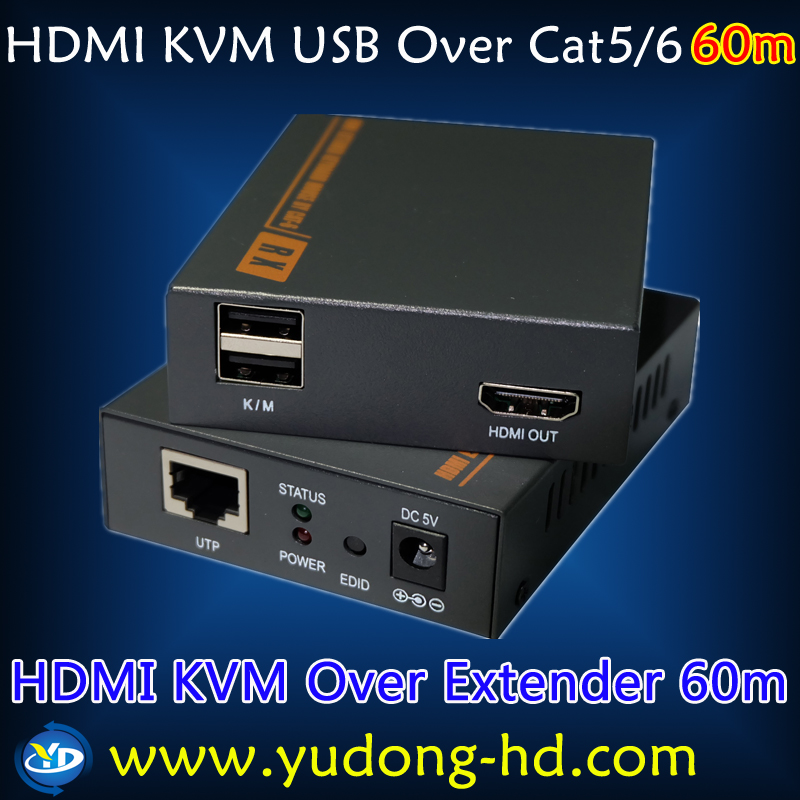 60m USB KVM HDMI Extender Support 3D 1080P IP TV Converter Support Keyboard and Mouse Signal RF to AV Converter(China (Mainland))