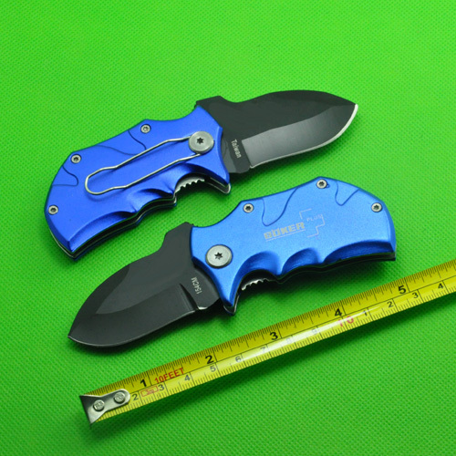 55HRC 420 Bule Black Color Hunting Folding Pocket Mini knife Tactical Survival Knives EDC Best Gift