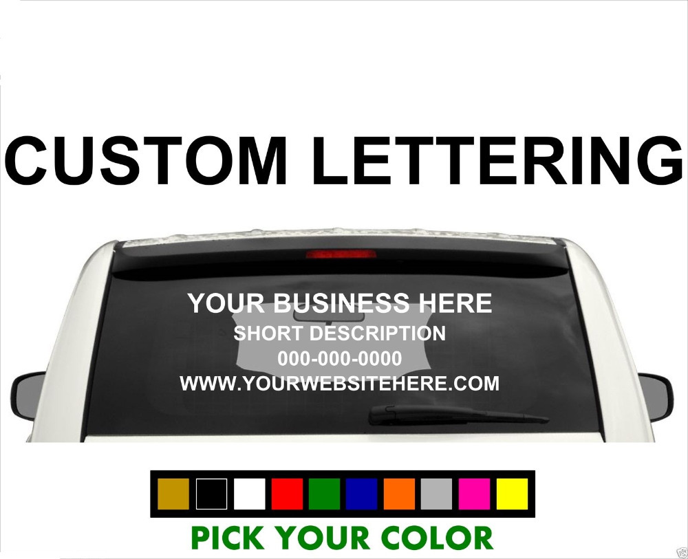 Custom Truck Window Decals - Custom vinyl stickers