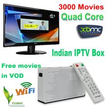 India IPTV Quad core 4.4 caja androide de la TV India iptv, 200 Indian canal India IPTV canales(China (Mainland))