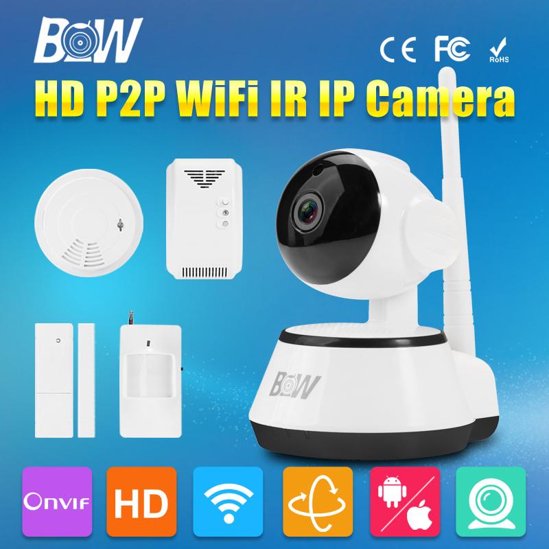 BW P2P IP Camera Wifi Wireless 720P HD Security Cam ONVIF Cloud Night Vision Micro SD Card with Sensor Detector Homecare CCTV(China (Mainland))