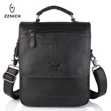 Buy ZZNICK Men 100% Genuine Cow Leather Crossbody Shoulder Bag Men Messenger Bag Vintage Leather Male Business Bag Briefcase Handbag for $36.86 in AliExpress store