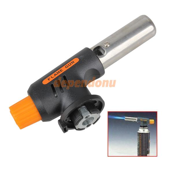 New Gas Torch Butane Burner Auto Ignition Camping Welding Flamethrower BBQ Travel Free Shipping(China (Mainland))