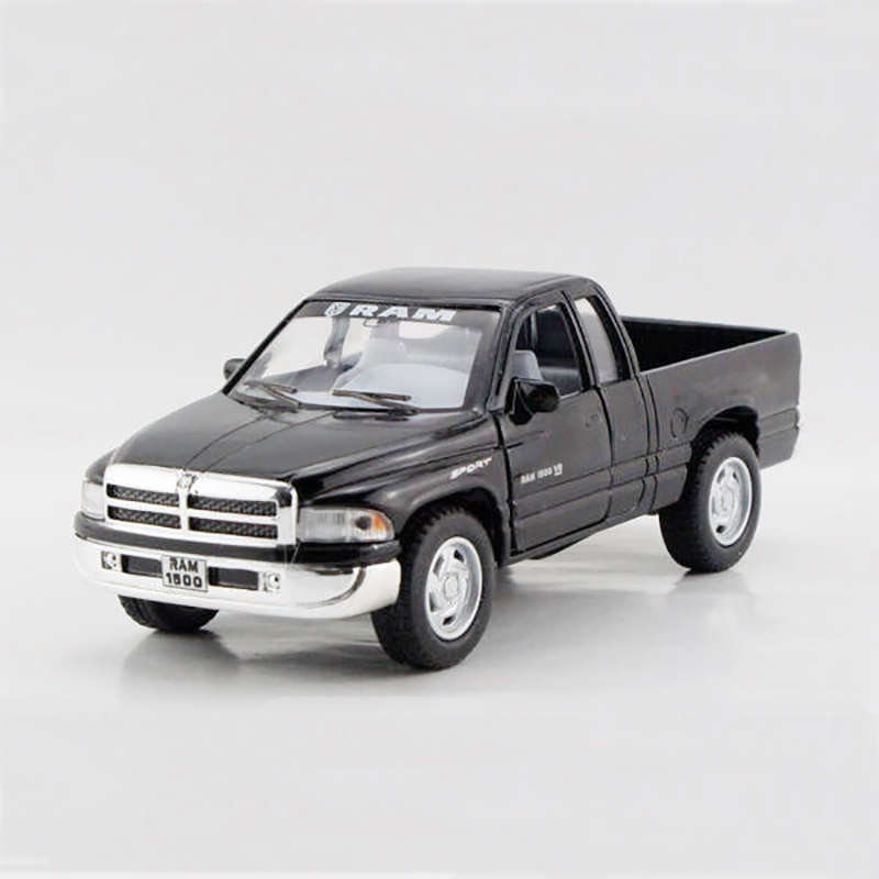 Kinsmart pull back car Ram Pickup truck Black 1/44 alloy models model car Pickup children's toys car Kids toy(China (Mainland))