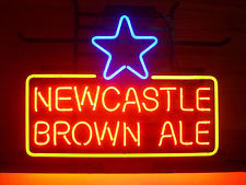 """NEW Newcastle Brown Ale 24""""X20"""" GLASS NEON SIGN LIGHT BEER BAR PUB SIGN ARTS CRAFTS GIFTS SIGNS(China (Mainland))"""