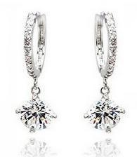 Fashion Crystal Circel 18K Rhinestone Earrings Jewelry Drop Women - Hello Bella store