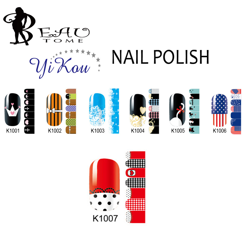 Beautome K1001 Sticky Full Cover Nail Art Sticker Mixed Flag Shoes Design Nail Wraps Foil Sticker Manicure Stickers For Beauty(China (Mainland))
