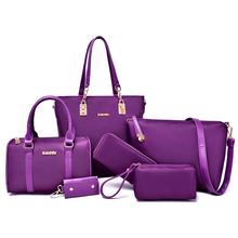 6 PCS Set Women Handbag NEW Famous Brand Composite Bag Solid Women Messenger Bags Shoulder Bag