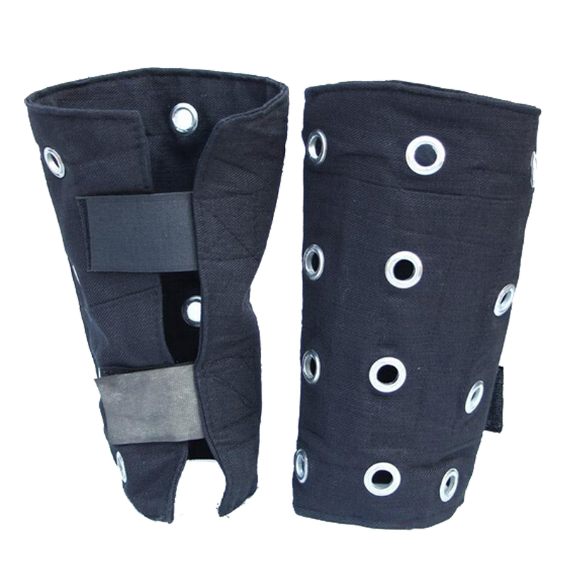 Protective Anti-cutting Wristband Steel Bracers For Glass Operation Staff Denim Fabric Wrister(China (Mainland))