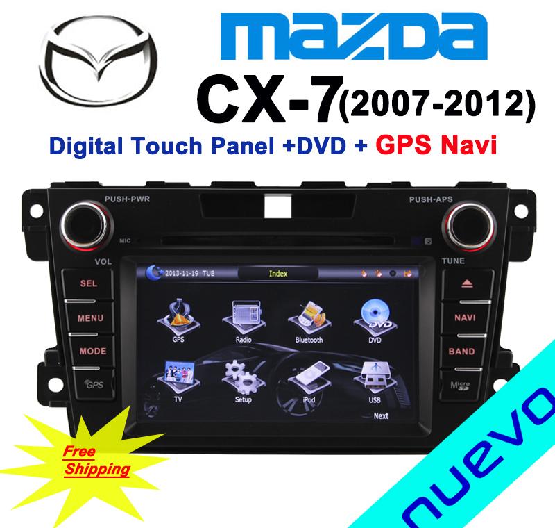 Mazda CX7(2007-2012) Car DVD with GPS Navigation Radio Bluetooth ATV USB SD Free Map Free Shipping(China (Mainland))