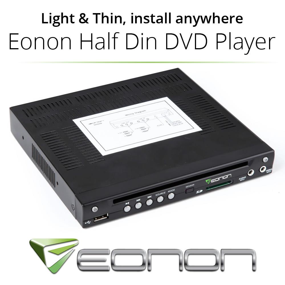 Eonon Half 1/2 Din In Dash Car CD DVD Player SDHC/AVI/VCD/MP3 USB SD Audio Sale(China (Mainland))