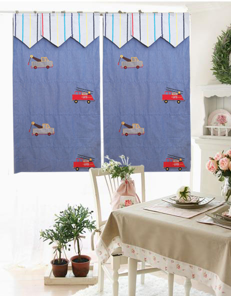 Custom-Made American boy car 100% cotton curtain roman blinds (Made To Order)(China (Mainland))