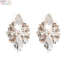 4 colors New 2017 fashion HOT women stud earrings crystal vintage korean Earrings for women jewelry wholesale(China (Mainland))