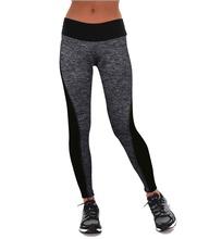 Buy 2017 New Arrival Women Leggings Fitness Summer Workout Leggings New Ladies Plain Elastic Waist Black Grey Patchwork Legging 1028 for $4.49 in AliExpress store