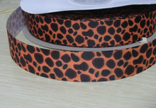 Buy Pick Size 9 16 22 25 38 50 75 mm Width brand logo custom Ribbons leopard spot Printed Grosgrain Ribbon Hair Bows R08 for $8.80 in AliExpress store