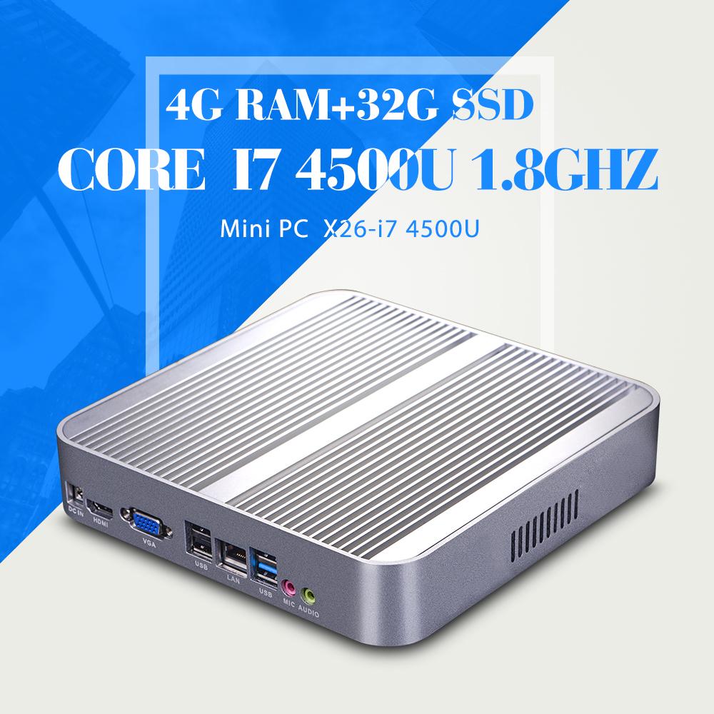 Smaller Space Energy Tablet font b Motherboard b font I7 4500U 4G RAM 32G SSD Mini