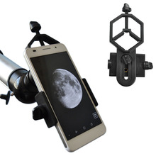1Pcs Hot Universal Smartphone Spotting Scopes Telescope Microscope adapter-Into Video Camera Adapter Capturer in Distant Sale(China (Mainland))