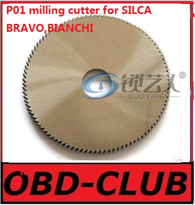 Original Raise High speed steel double angle cutter-P01 milling cutter for SILCA key cutting machine BRAVO,BIANCHI locksmith(China (Mainland))
