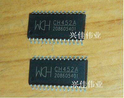 Brand new original authentic CH452 CH452A SOP28 digital tube display driver keyboard control chip--XJDZ(China (Mainland))