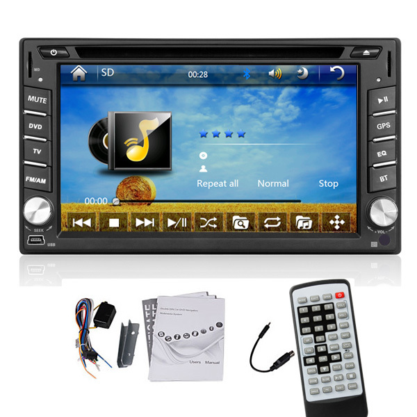 universal 2 two Din 6.2 In Dash Car DVD player GPS(optional), audio Radio stereo,FM,USB/SD,Bluetooth/TV,HD digital touch screen<br><br>Aliexpress