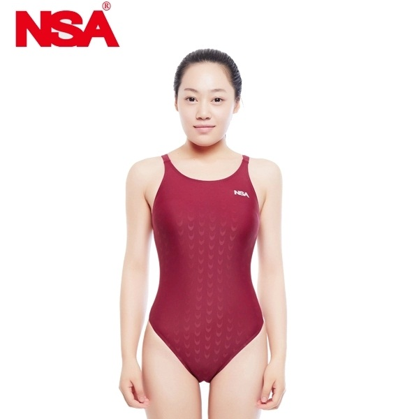 NSA one piece elegant black triangle competition training swimsuit waterproof chlorine resistant women's swimwear bathing suit(China (Mainland))