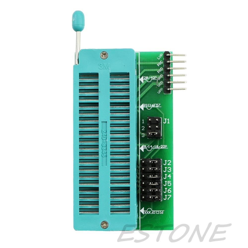 J34 Free Shipping 1pc PIC ICD2 Programming Adapter PICKIT2 PICKIT3 Universal Programmer Seat New(China (Mainland))