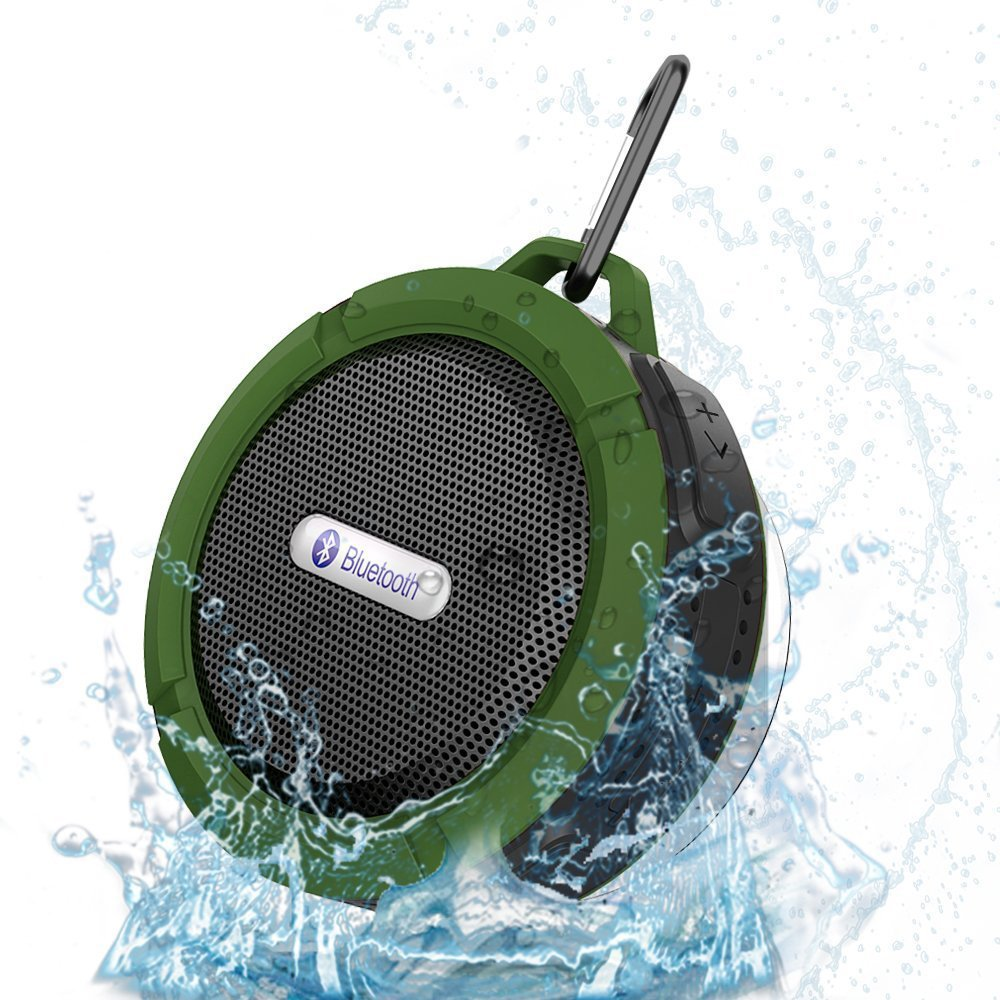 Mini Bluetooth Speaker Waterproof Portable Subwoofer Support SD TF Card MP3 Player Metal Hook for Outdoor Sport Riding 5W(China (Mainland))