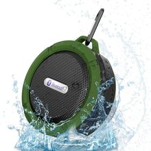 Mini Bluetooth Speaker Waterproof Portable Subwoofer With FM Radio SD TF Card MP3 Player Metal Hook for Outdoor Sport Riding 5W(China (Mainland))