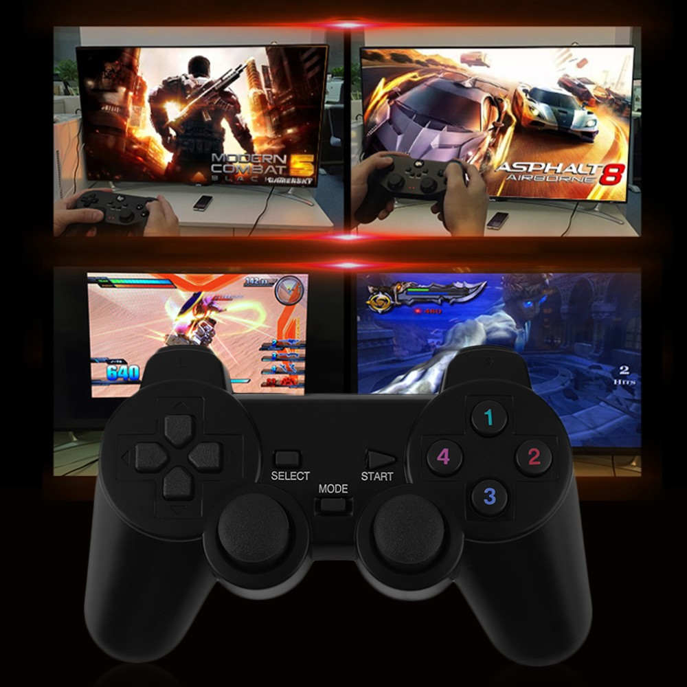 image for New 2x 2.4G USB Wireless Dual Vibration Gamepad Controller Joystick Wi