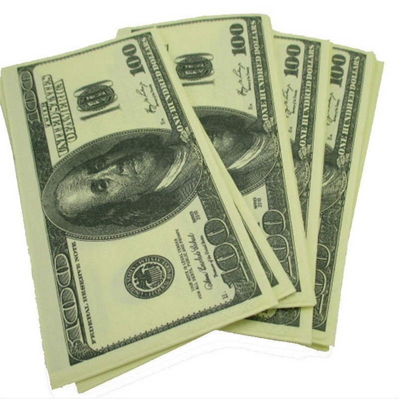 100$ Dollars Napkin Toilet Tissue US Dollar Bill Paper Towel Novelty Fun Tricky Party Gift home 2016(China (Mainland))