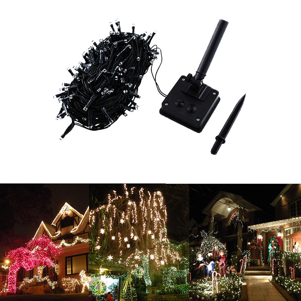 Solar Powered 20M 200 LED Home Garden Xmas Party Decor Fairy String Lights